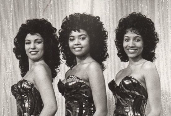 "Tami Cowger, Sharon Leal and Yvonna Kopacz in GCP's ""Dreamgirls"" 1990."
