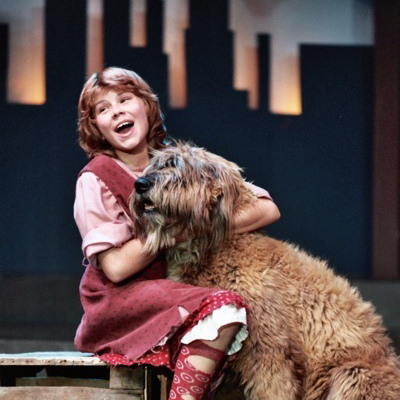 Heidi and Cougar as Annie and Sandy in 1983 (Heidi's the one in the dress)