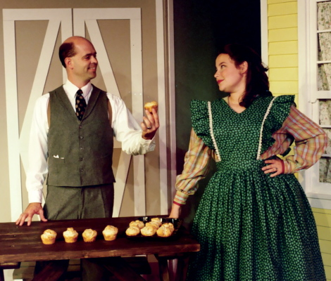 "Mark Tolladay & Alicia O'Neill as Mr. Snow and Carrie in ""Carousel"" 1997"
