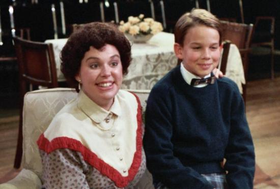 Karen Hagerman & Christopher Gorham in CHEAPER BY THE DOZEN, 1986.