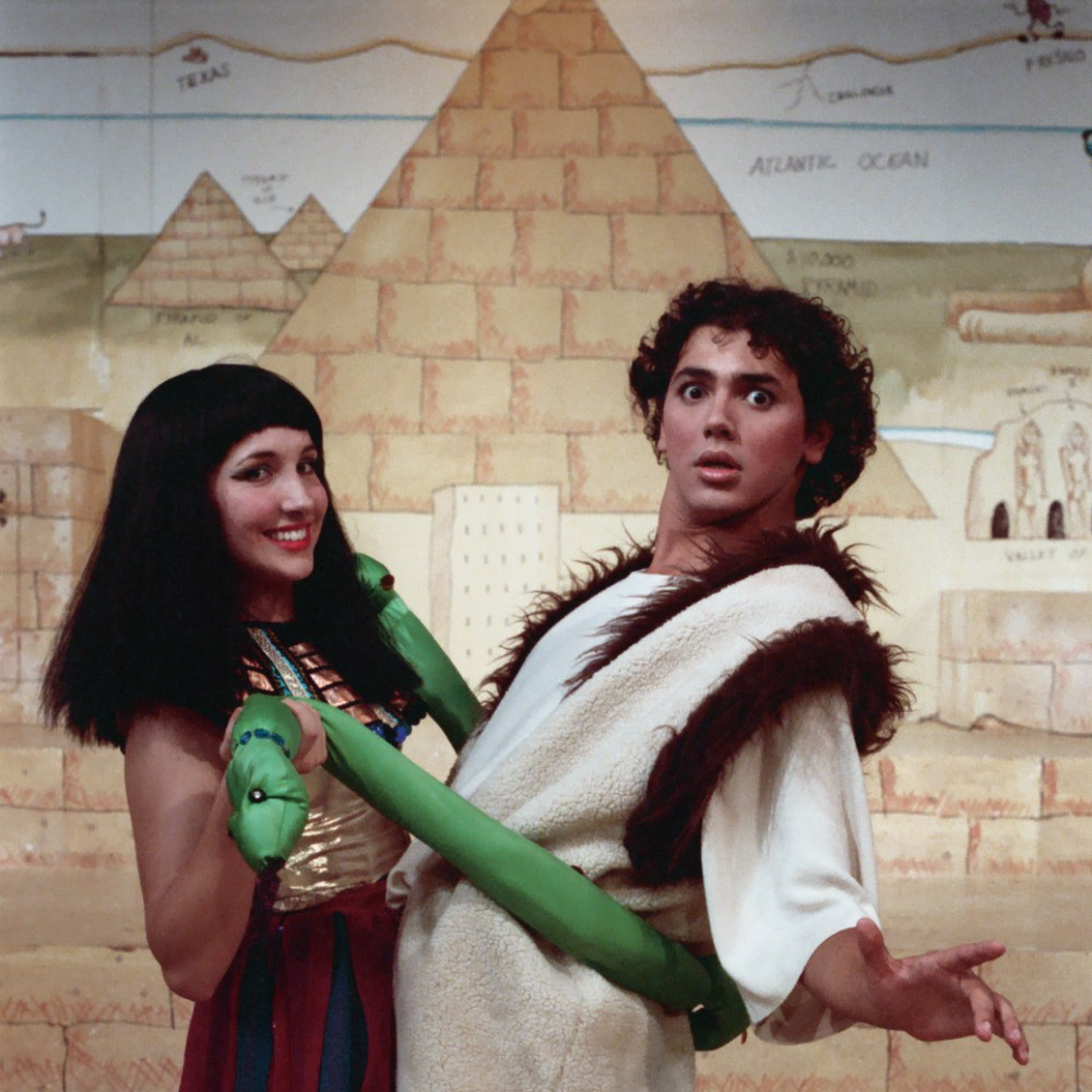 Kendra Hopper and Robert Vargas in Good Company Player's 1988 production of Joseph And The Amazing Technicolor Dreamcoat.