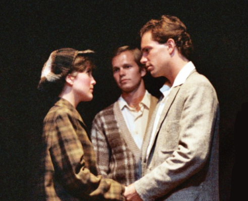 "left to right, Pauline Uhalde, Zarell Williams, Jeff Siebert in ""Gypsy"", 1982"