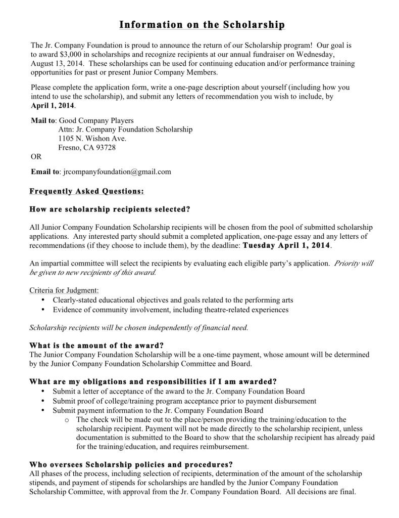 scholarship essay example financial need
